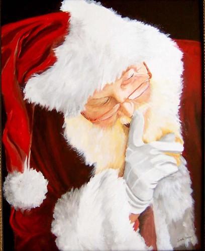 Santa Shushing Reindeer